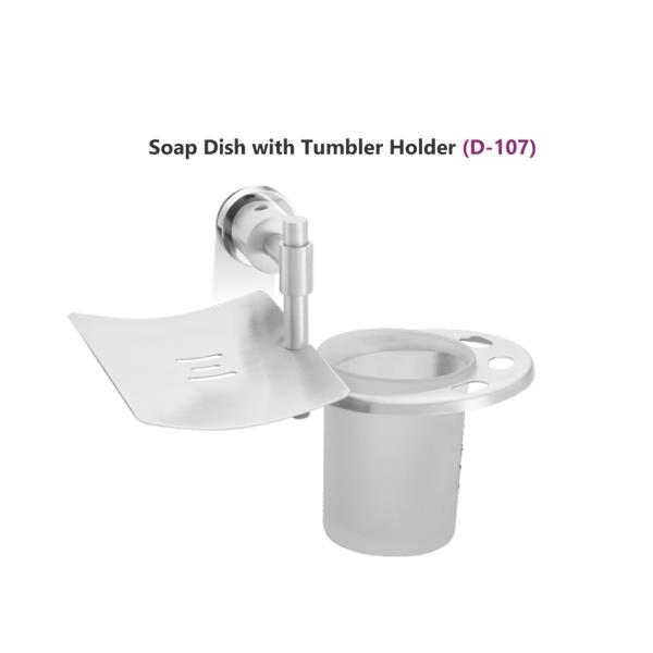 Soap Dish with Tumbler Holder  (D - 107)