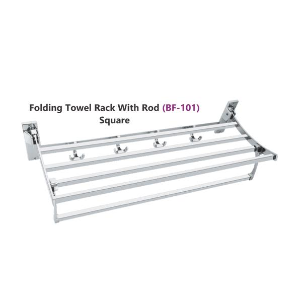 Folding Towel Rack with Rod (BF-101)