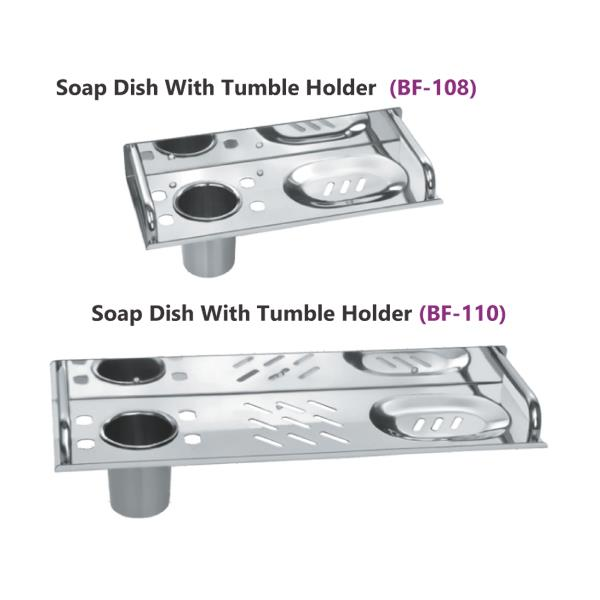 Soap Dish with Tumbler Holder  (BF - 108-110)